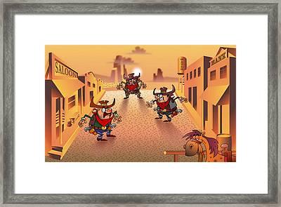 The Cowboys Framed Print by Vitaliy Shcherbak