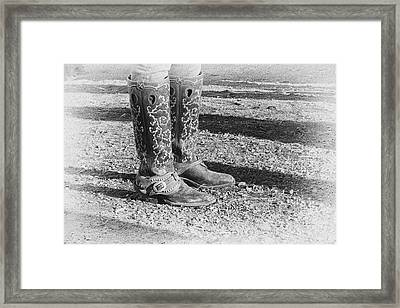 The Cowgirl Framed Print by Mary Lee Dereske