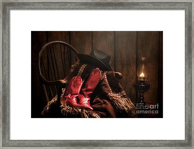 The Cowgirl Rest Framed Print by Olivier Le Queinec