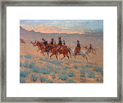 The Cowpunchers Framed Print by Frederic Remington
