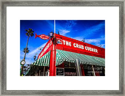 The Crab Cooker Newport Beach Photo Framed Print by Paul Velgos