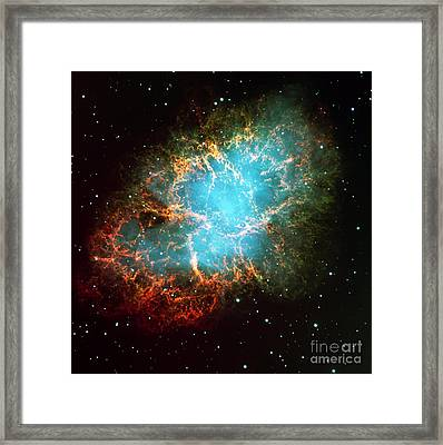 The Crab Nebula Framed Print by Paul Fearn