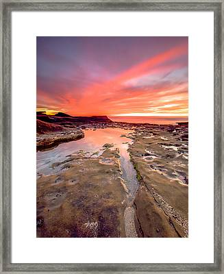 The Crack In The Rock Framed Print