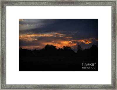The Crack Of Dawn Framed Print by Thomas Woolworth