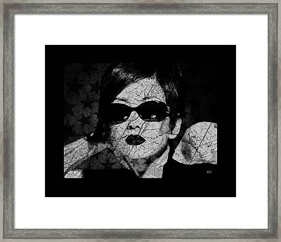 The Cracked Facade Framed Print
