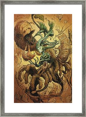 The Crackling Husk Framed Print by Ethan Harris