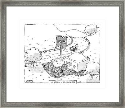 The Cradle Of Convenience Framed Print by Jack Ziegler