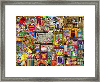 The Craft Cupboard Framed Print by Colin Thompson