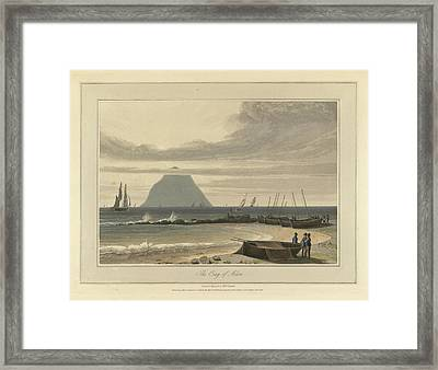The Crag Of Ailsa Framed Print by British Library