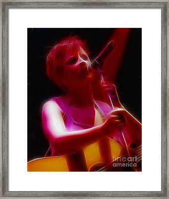 The Cranberries-dolores-3-fractal Framed Print by Gary Gingrich Galleries