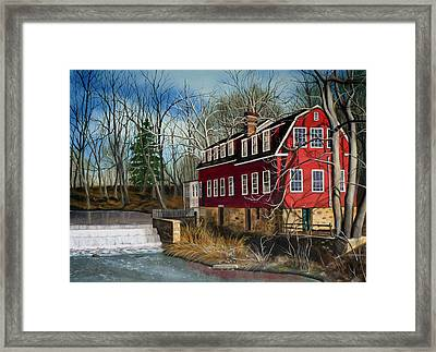 The Cranford Mill Framed Print