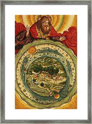 The Creation, From The Lutheran Bible Framed Print by German School