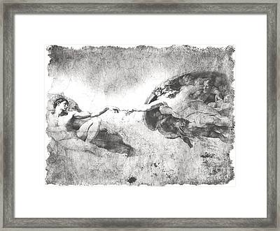 The Creation Of Adam Framed Print by Stefano Senise
