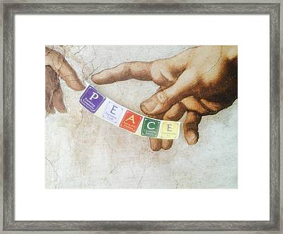 The Creation Of Peace Framed Print