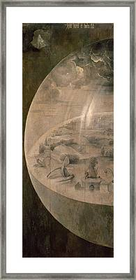 The Creation Of The World Framed Print by Hieronymus Bosch