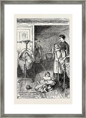 The Creche, Or Babys Home, In Stepney, London Framed Print