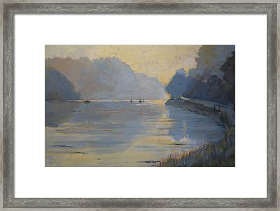 The Creek  Autumn Framed Print by Jennifer Wright