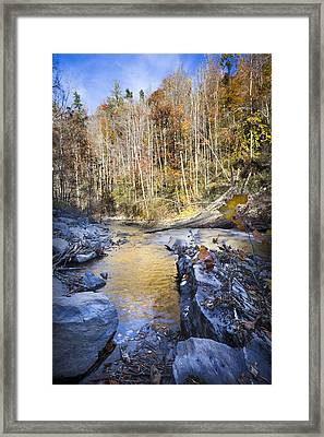 The Creek Framed Print by Debra and Dave Vanderlaan