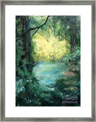 The Creek Framed Print by Mary Lynne Powers
