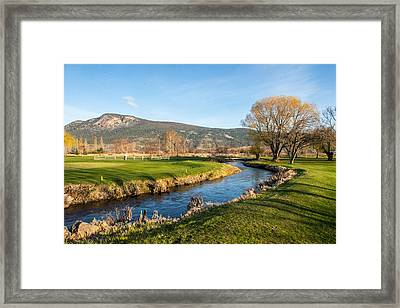 The Creek Runs Through Framed Print by Randy Giesbrecht