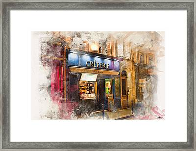 The Creperie Framed Print by Evie Carrier