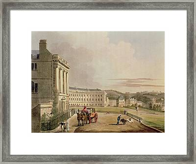 The Crescent, Detail Of The Street Framed Print by John Claude Nattes