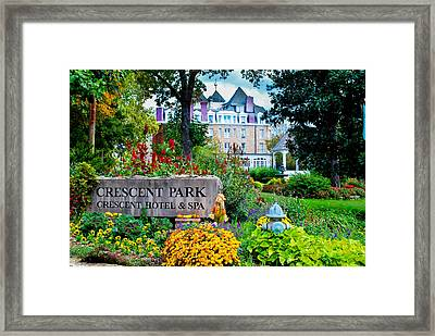 The Crescent Hotel In Eureka Springs Arkansas Framed Print by Gregory Ballos