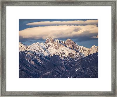 The Crestones Framed Print by Aaron Spong