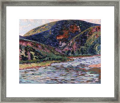 The Creuse In Summertime Framed Print by Jean Baptiste Armand Guillaumin