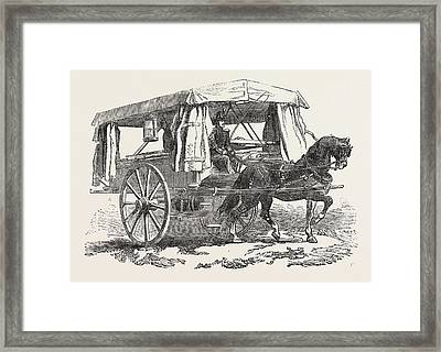The Crimean War Ambulance For The Wounded 1854 Framed Print by English School
