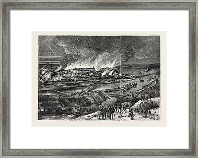 The Crimean War Conflagration Of Sebastopol Framed Print