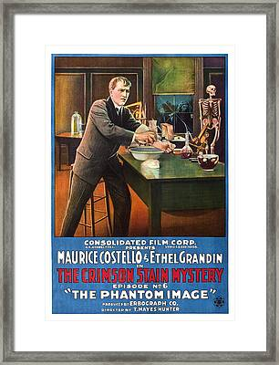 The Crimson Stain Mystery, Us Poster Framed Print by Everett