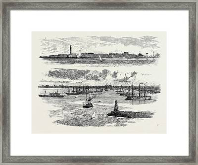 The Crisis In Egypt, A The Fortifications Of Alexandria Framed Print