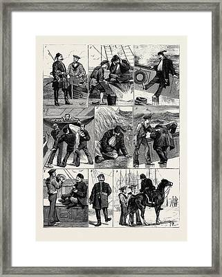 The Crisis In Egypt The Turkish Cavass On A Sea Voyage 1 Framed Print