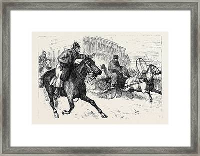 The Crisis In Russia Police Espionage In St Framed Print by English School
