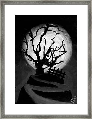 The Crooked Tree Framed Print