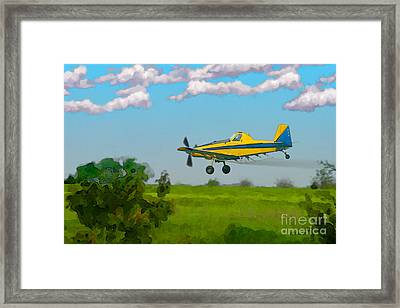 The Crop Duster Framed Print