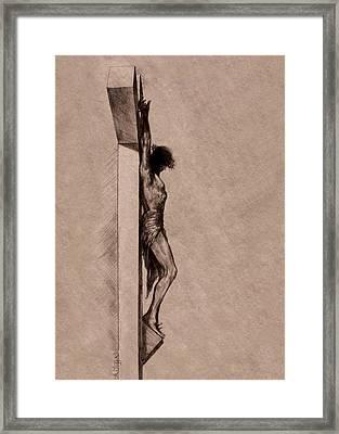 The Cross 2 Framed Print by Derrick Higgins