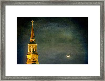 The Cross And The Crescent Framed Print