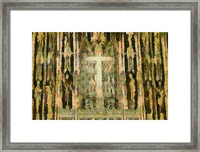 The Cross Framed Print by Dan Sproul