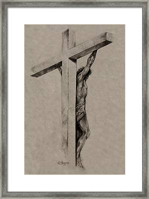 The Cross Framed Print by Derrick Higgins