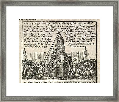 The Cross In Cheapside Framed Print by British Library