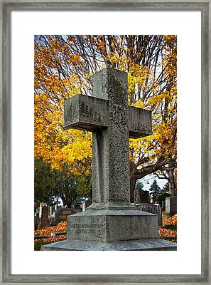 The Cross Framed Print by Jemmy Archer