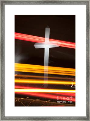 The Cross Framed Print by Jim McCain