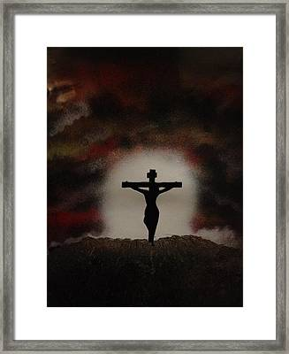 Framed Print featuring the painting The Cross by Michael Rucker