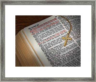 The Cross Of Jesus Framed Print by David and Carol Kelly