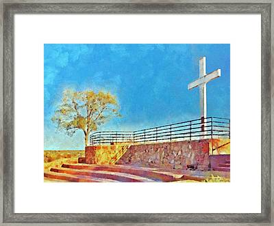 The Cross Of The Martyrs  Sante Fe  New Mexico  Framed Print