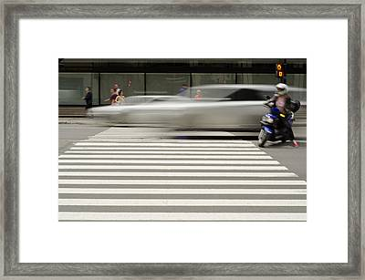 The Crossing Framed Print by Eric Soucy