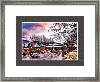 The Crossing II Brenton Woods Nh Framed Print by Tom Prendergast