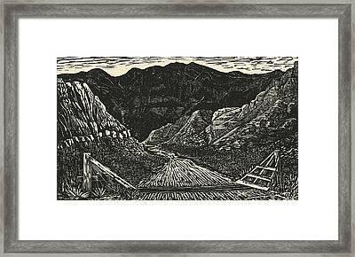 The Crossing Framed Print by Maria Arango Diener